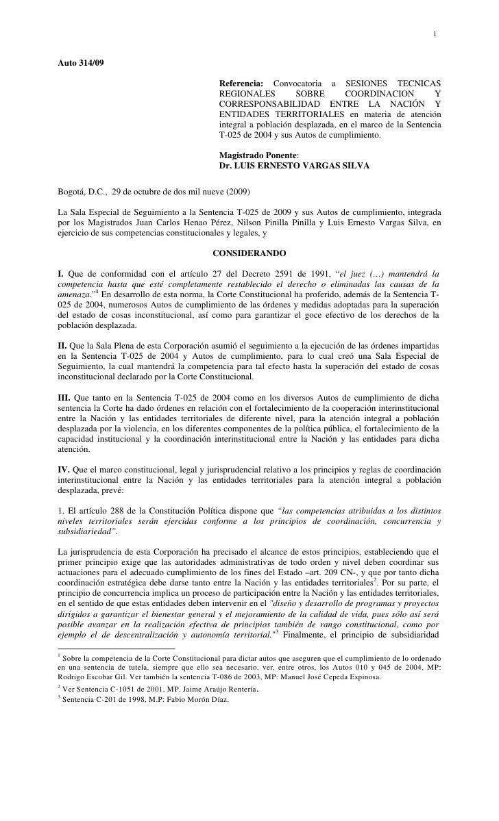 1Auto 314/09                                                Referencia: Convocatoria a SESIONES TECNICAS                  ...