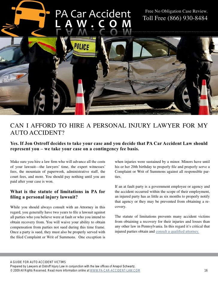 Auto Accident For Pa Car Accident Law