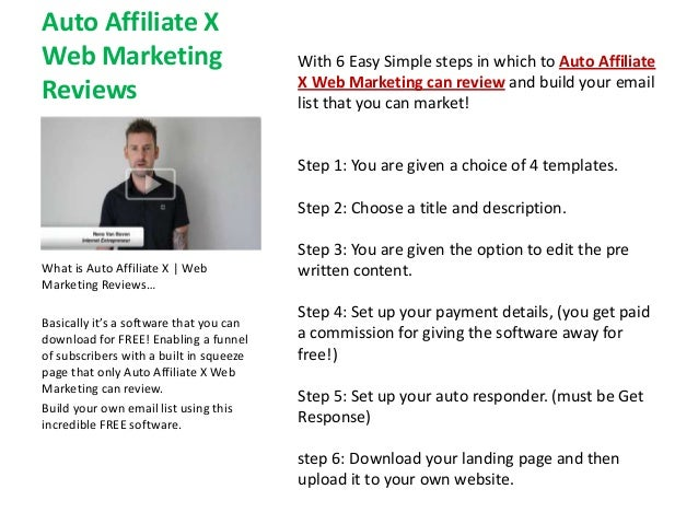 Auto Affiliate XWeb Marketing                            With 6 Easy Simple steps in which to Auto Affiliate              ...