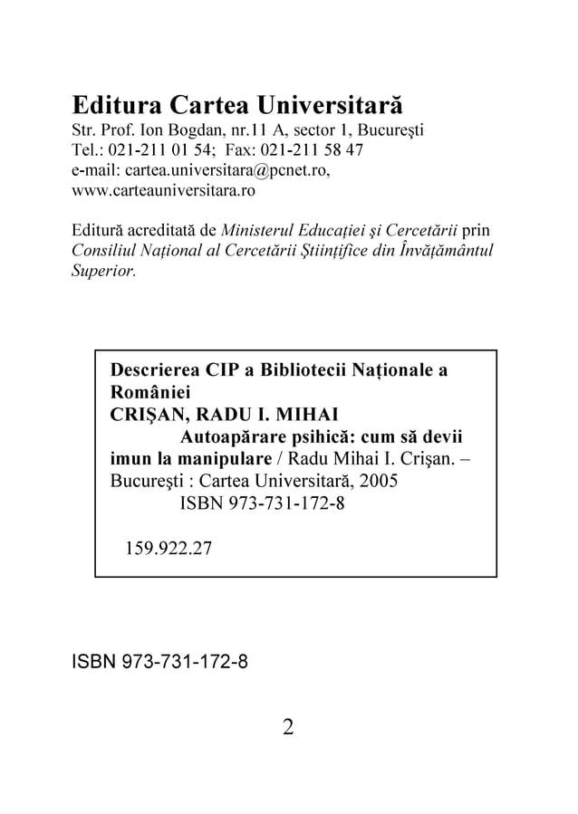 2  8-271-137-379 NBSI  72.229.951 8-271-137-379 NBSI 5002 ,ăratisrevinU aetraC : itşerucuB  – .naşirC .I iahiM udaR / eral...