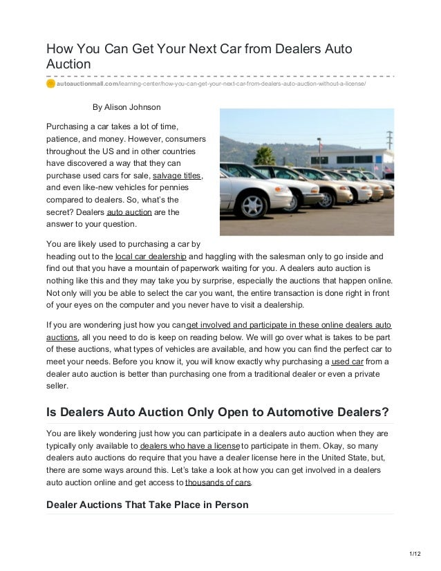 Car Auction License >> Autoauctionmall Com How You Can Get Your Next Car From