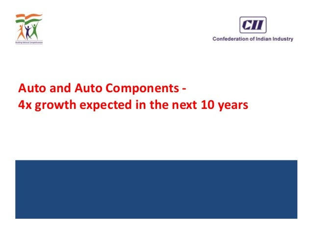 Auto and Auto Components - 4x growth expected in the next 10 years