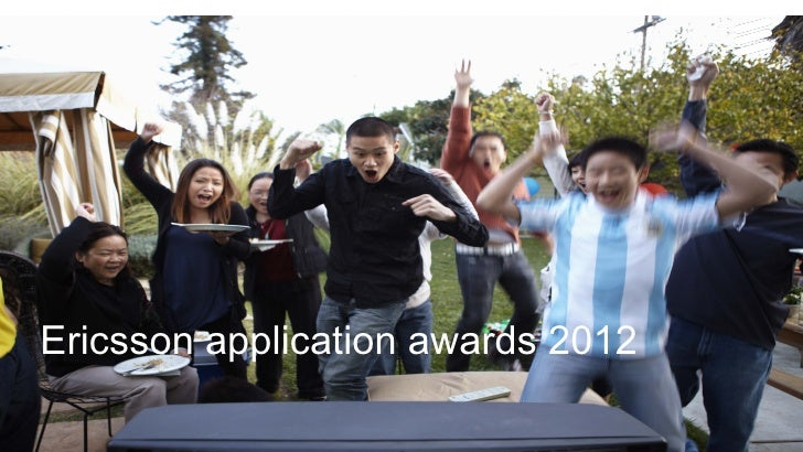 Ericsson application awards 2012