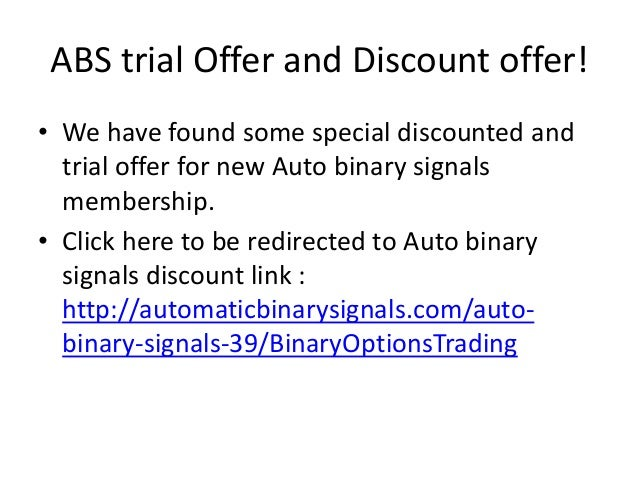 Binary options trading signals members area