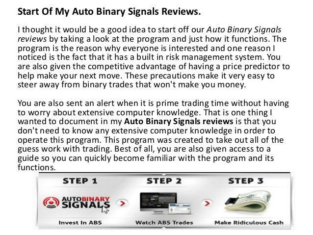 Auto binary options signals review
