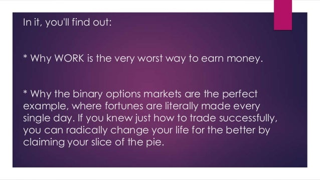 Truth about binary options trading