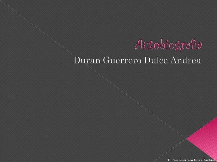 Duran Guerrero Dulce Andrea