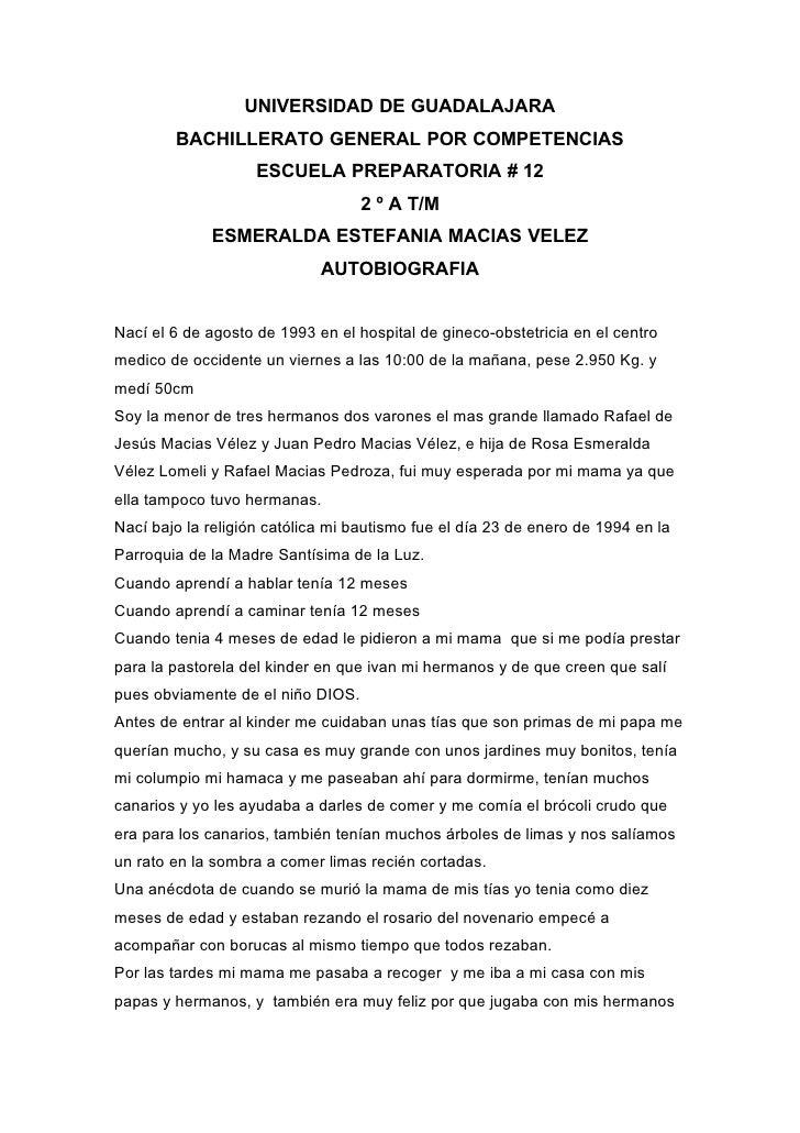 UNIVERSIDAD DE GUADALAJARA         BACHILLERATO GENERAL POR COMPETENCIAS                     ESCUELA PREPARATORIA # 12    ...