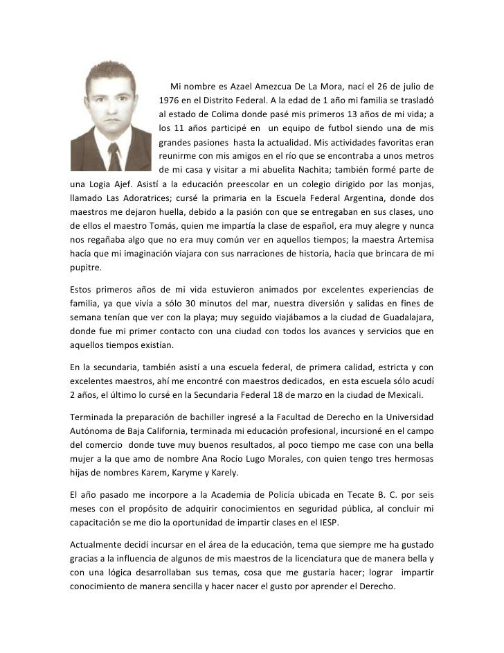 lefttop<br />     Mi nombre es Azael Amezcua De La Mora, nací el 26 de julio de 1976 en el Distrito Federal. A la edad de ...