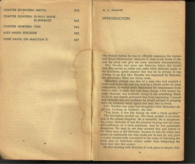 Autobiografia de Malcolm X - parte 1