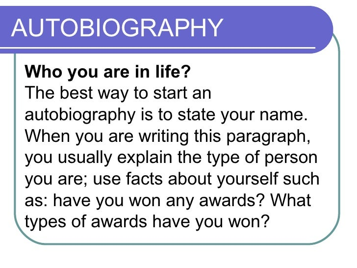 define biography essay
