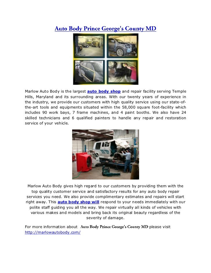 auto body prince george s county md slideshare