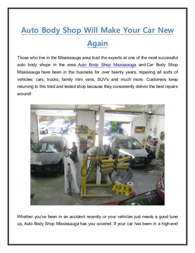 Auto Body Shop Will Make Your Car New Again Those who live in the Mississauga area trust the experts at one of the most su...