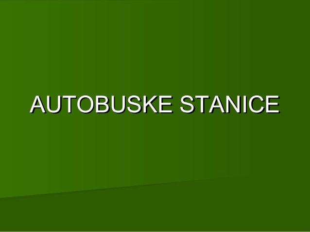AUTOBUSKE STANICE