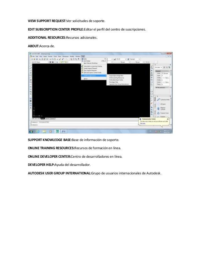 VIEW SUPPORT REQUEST:Ver solicitudes de soporte.EDIT SUBSCRIPTION CENTER PROFILE:Editar el perfil del centro de suscripcio...