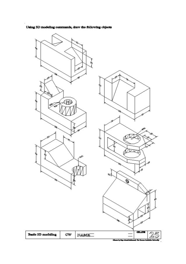 autocad sheets 3D to AutoCAD Layout using sweep mand draw the following objects