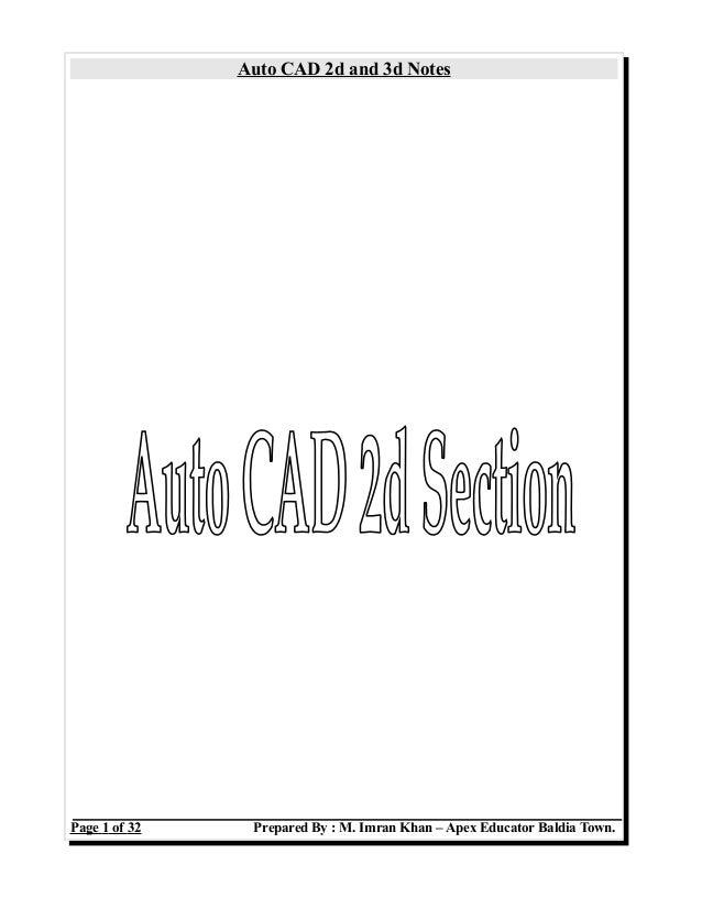 Auto CAD Notes
