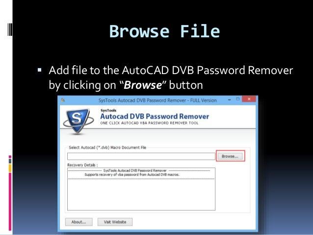 AutoCAD DVB Password Remover Tool: Break AutoCAD VBA Password