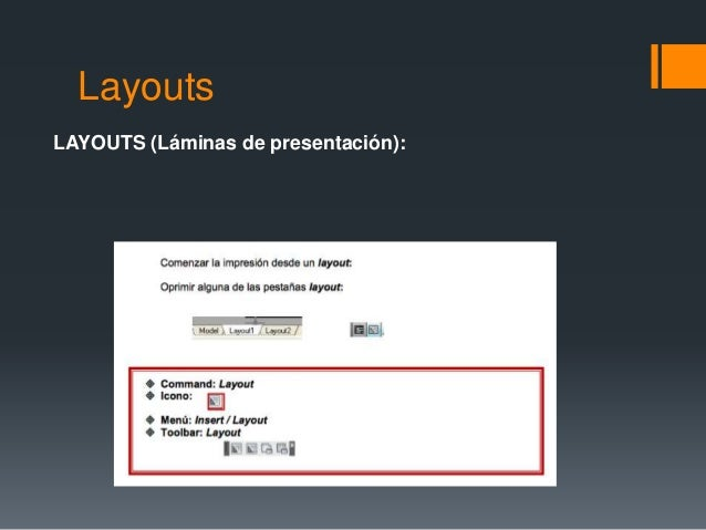 Layouts LAYOUTS (Láminas de presentación):
