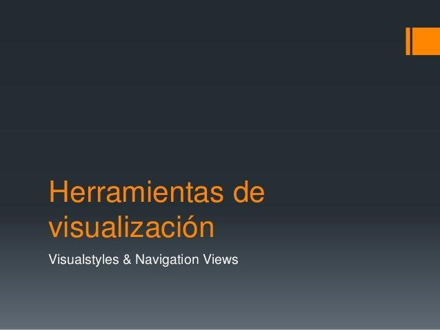 Herramientas de visualización Visualstyles & Navigation Views