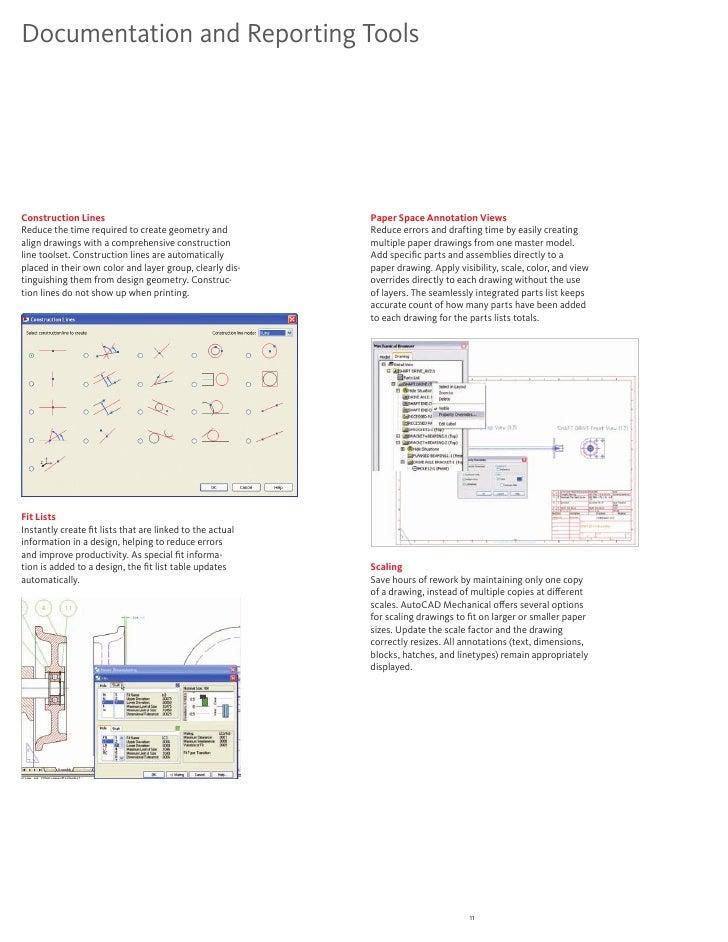 Autocad Mechanical 2011 Detail Brochure