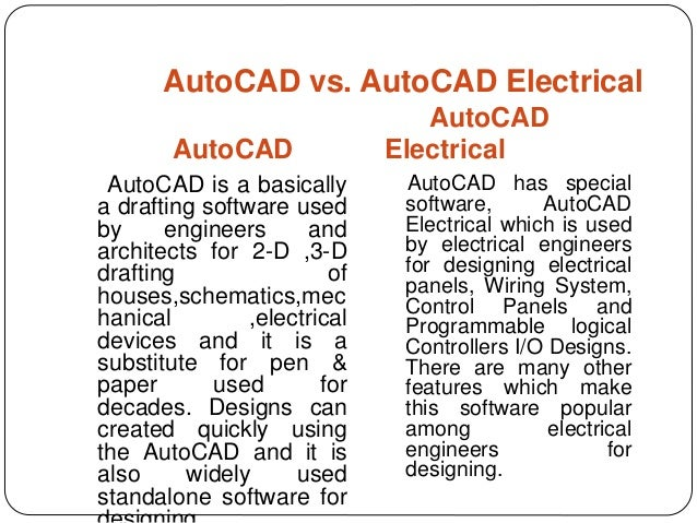 AutoCad Electrical - Electrical Drawing Using Cad