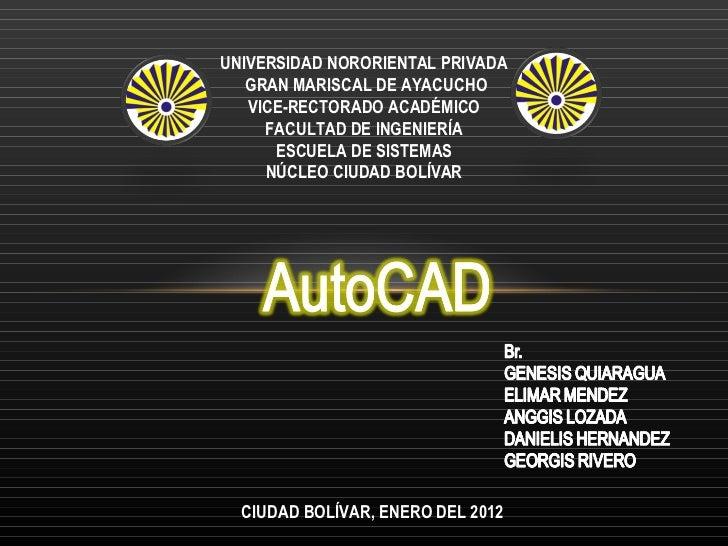 UNIVERSIDAD NORORIENTAL PRIVADA GRAN MARISCAL DE AYACUCHO VICE-RECTORADO ACADÉMICO FACULTAD DE INGENIERÍA ESCUELA DE SISTE...