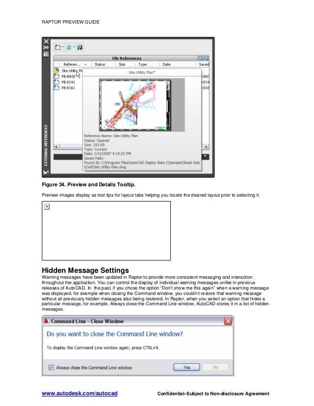 autocad raptor tutorial guide 2009 rh slideshare net AutoCAD 2010 AutoCAD 2008