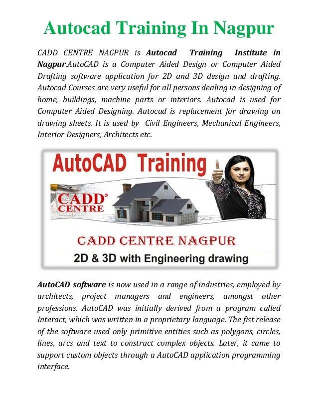 Autocad Training In Nagpur Autocad Classes In Nagpur