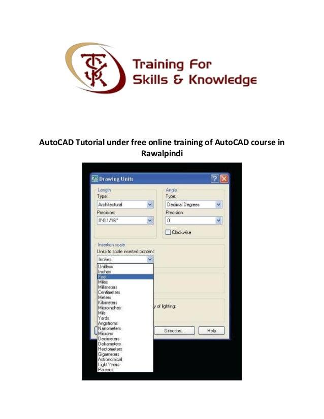 Auto Cad Tutorial Under Free Online Training Of Autocad