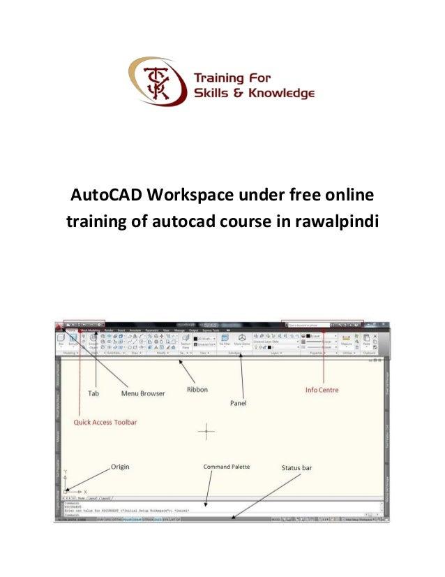 Auto Cad Workspace Under Free Online Training Of Autocad