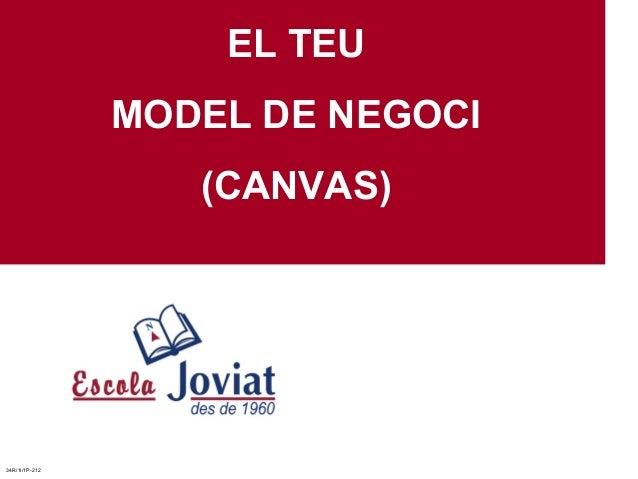 EL TEUMODEL DE NEGOCI(CANVAS)34R/1I/1P-212