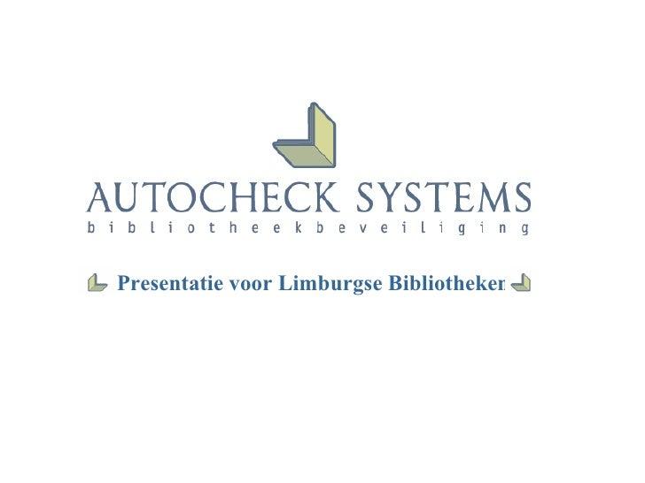 Presentatie voor Limburgse Bibliotheken
