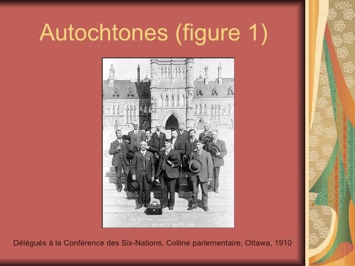 Autochtones (figure 1) Délégués à la Conférence des Six-Nations, Colline parlementaire, Ottawa, 1910