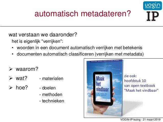 Automatische classificatie Slide 2