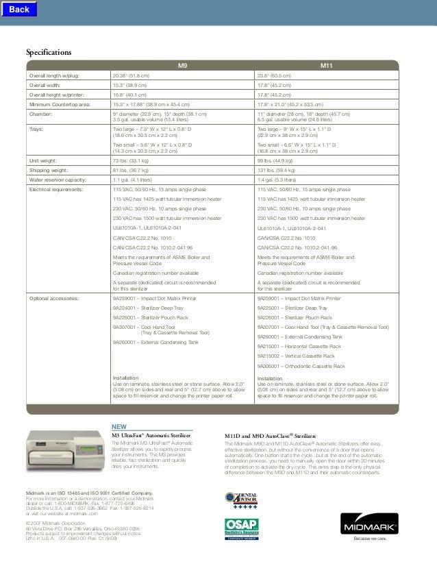 autoclave midmark m9 m11 midmark