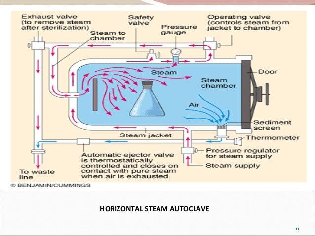 principle 11 horizontal steam autoclave