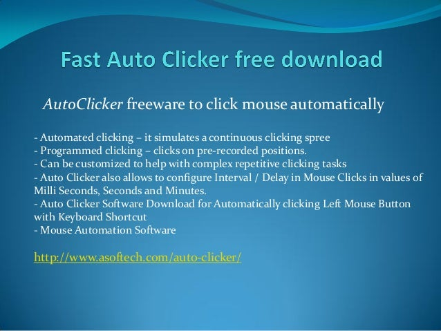 Auto Clicker Free to Click Mouse Cursor Automatically at