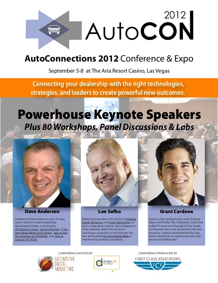 AutoConnections 2012 Conference & Expo                            September 5-8 at The Aria Resort Casino, Las Vegas      ...