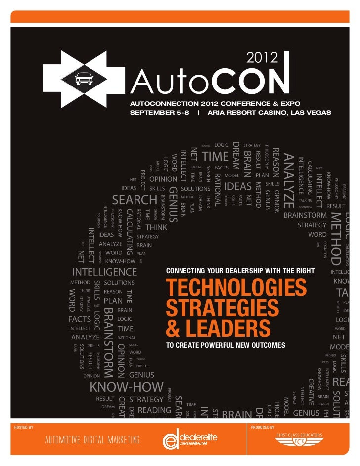 AUTOCONNECTION 2012 CONFERENCE & EXPO            SEPTEMBER 5-8   ARIA RESORT CASINO, LAS VEGAS                    CONNECTI...