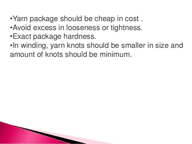 The aim of the modern automatic winder is to make the wound package as uniform as possible along with achieving higher pro...