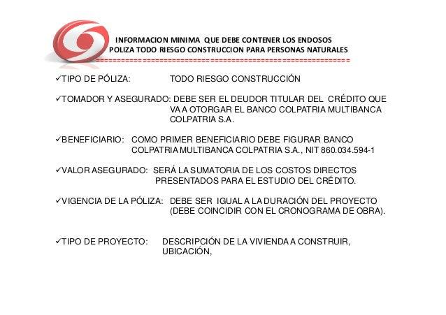 Que bancos prestan para construir vivienda en colombia credito hipotecario banorte requisitos Requisitos para construir una casa