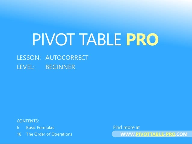 pivot table in excel 2013 tutorial pdf
