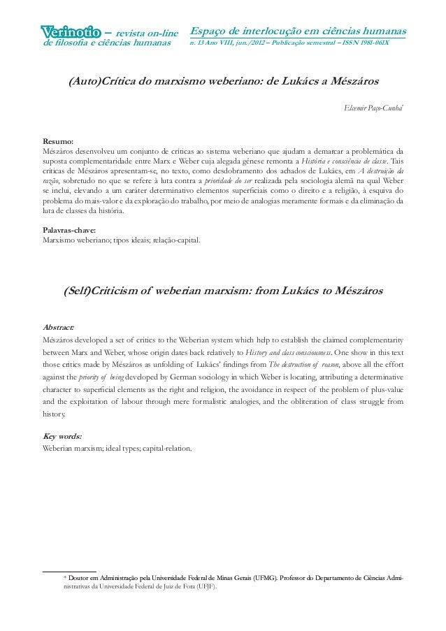 A história da exclusão e a exclusão da históriaVerinotio – revista on-line                       Espaço de interlocução em...