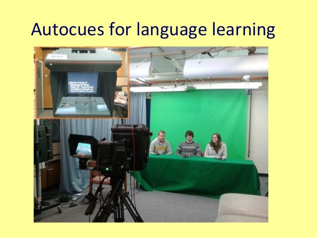 Autocues for language learning