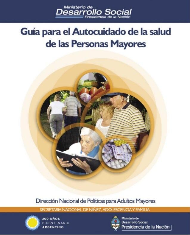 Guía para el autocuidado de la salud de las personas mayores1Secretaría Nacional de Niñez Adolescencia y Familia