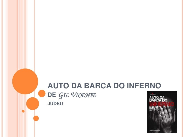AUTO DA BARCA DO INFERNO de Gil Vicente<br />JUDEU<br />
