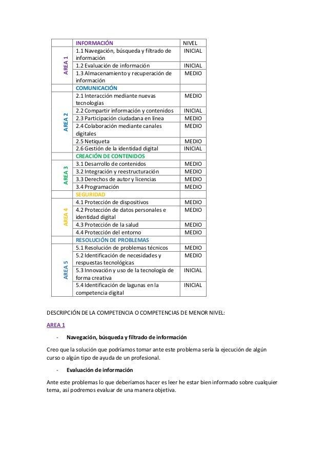 Autodescripcion Competencia Digital Docente