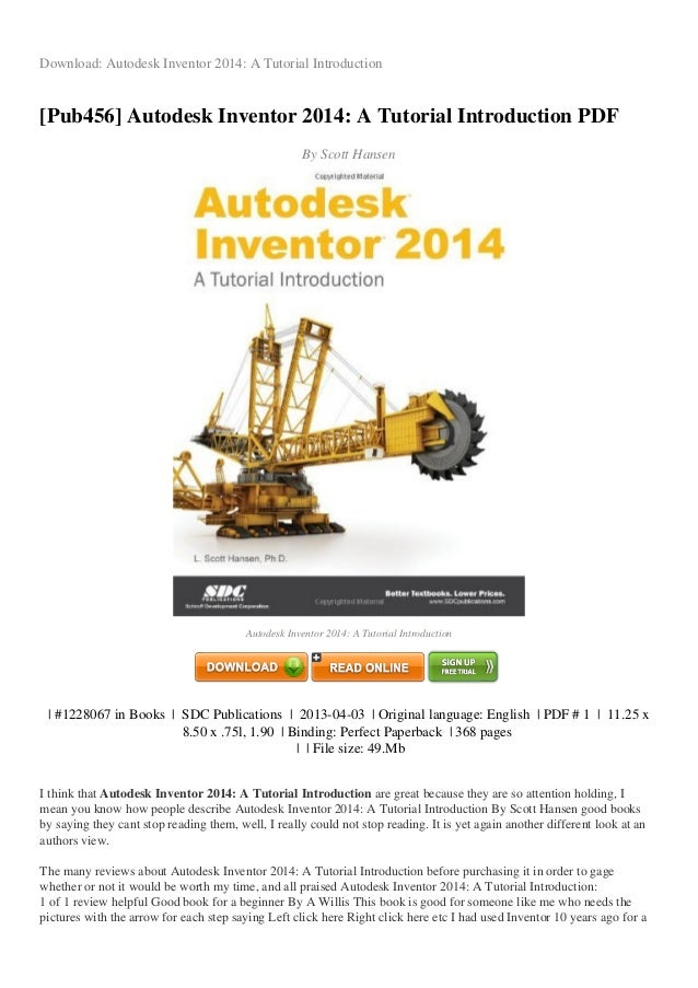 review autodesk inventor 2014 a tutorial introduction pdf 8dd48 rh slideshare net tutorial autodesk inventor 2016 tutorial autodesk inventor 2014
