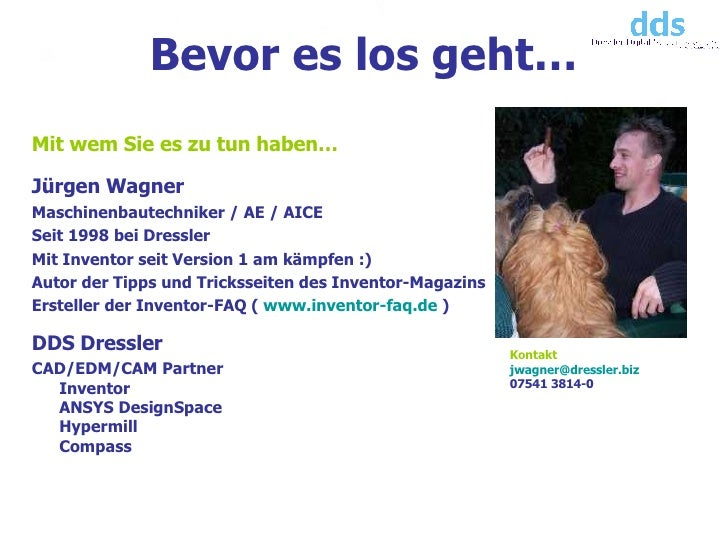 <ul><li>Mit wem Sie es zu tun haben… </li></ul><ul><li>Jürgen Wagner </li></ul><ul><li>Maschinenbautechniker / AE / AICE <...